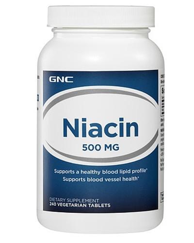 Ніацин GNC Niacin 500 100 veg tab