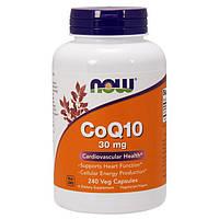 Коензим Q10 NOW CoQ10 30 mg 240 veg caps