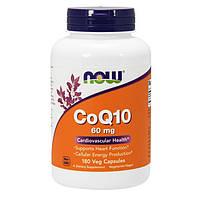 Коензим Q10 NOW CoQ10 60 mg 180 veg caps