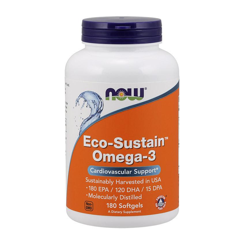 Жир морських риб NOW Eco-Sustain Omega-3 180 softgels