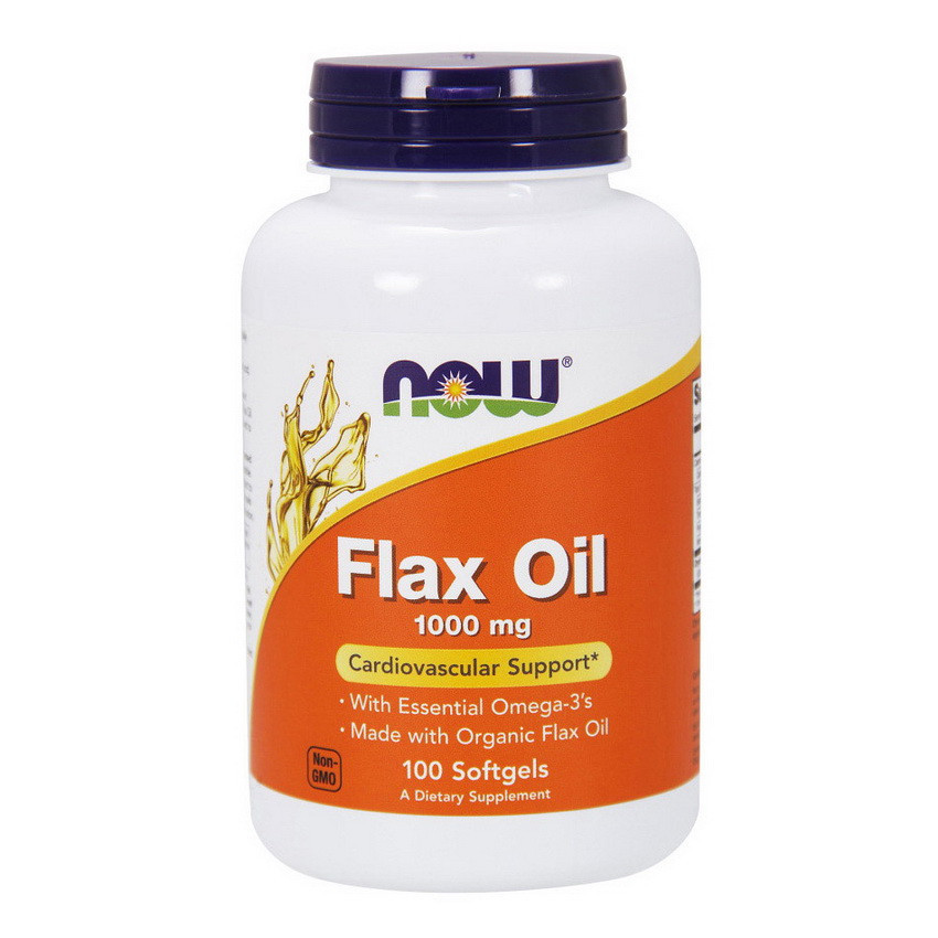 Льняное масло NOW Flax Oil 100 softgels