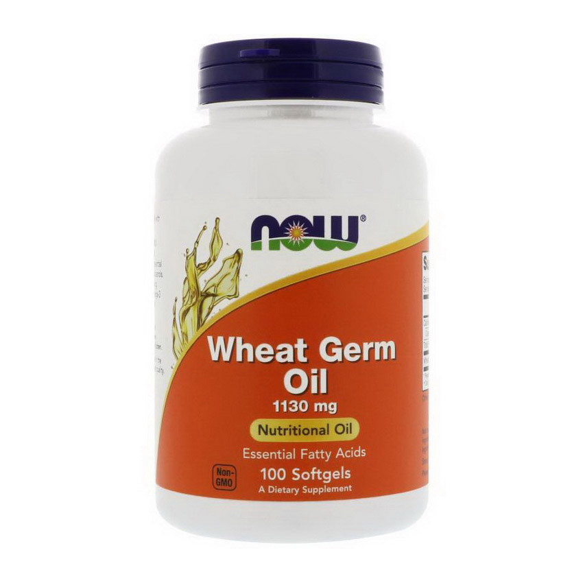 Масло зародышей пшеницы NOW Wheat Germ Oil 1130 mg 100 softgels