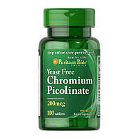 Хром Puritan's Pride Chromium Picolinate 200 mcg Yeast Free 100 tablets