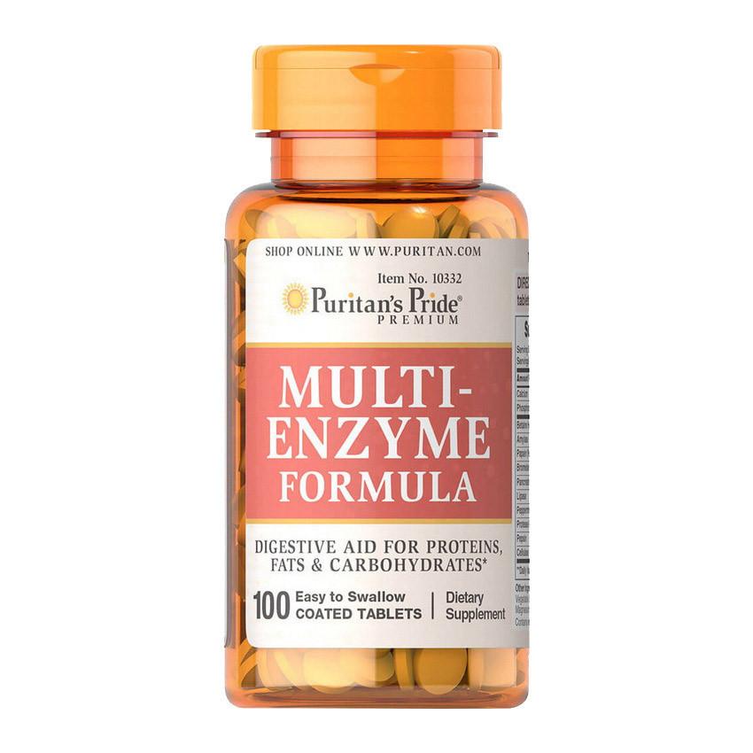 Пищеварительные энзимы Puritan's Pride Multi Enzyme Formula 100 tab