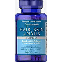 Витамины для кожи, волос и ногтей Puritan's Pride Hair, Skin & Nails 120 caplets