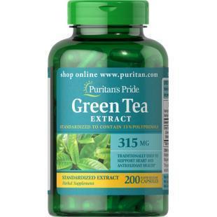 Экстракт зеленого чая Puritan's Pride Green Tea Extract 200 caps
