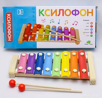 Детский деревянный музыкальный инструмент (Ксилофон) MD 0713
