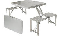 Стол алюминиевый складной + скамейки Golden Catch 7334606
