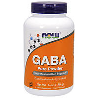 ГАМК гамма-аминомасляная кислота NOW GABA 170 g габа