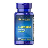 Аргинин Puritan's Pride L-Arginine 500 mg 100 caps