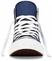 Кеды Converse All Star высокие Replica (реплика) темно-синие New Styles, фото 3