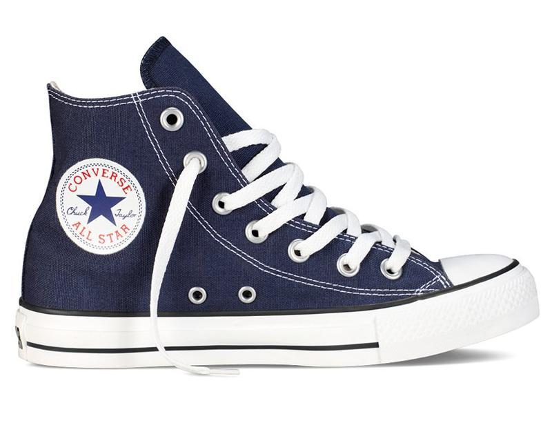 Кеды Converse All Star высокие Replica (реплика) темно-синие New Styles