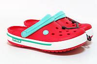 Женские кроксы красные, сабо Crocs оригинал
