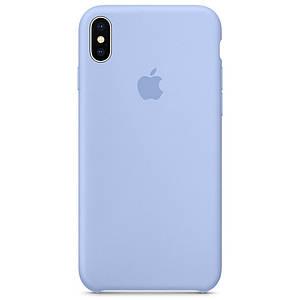 Чехол накладка xCase для iPhone XS Max Silicone Case светло-голубой