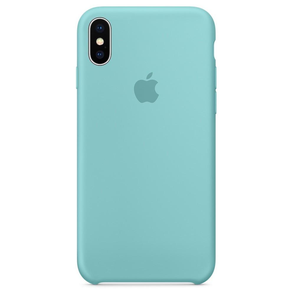 ✅ Чехол накладка xCase для iPhone XS Max Silicone Case мятный