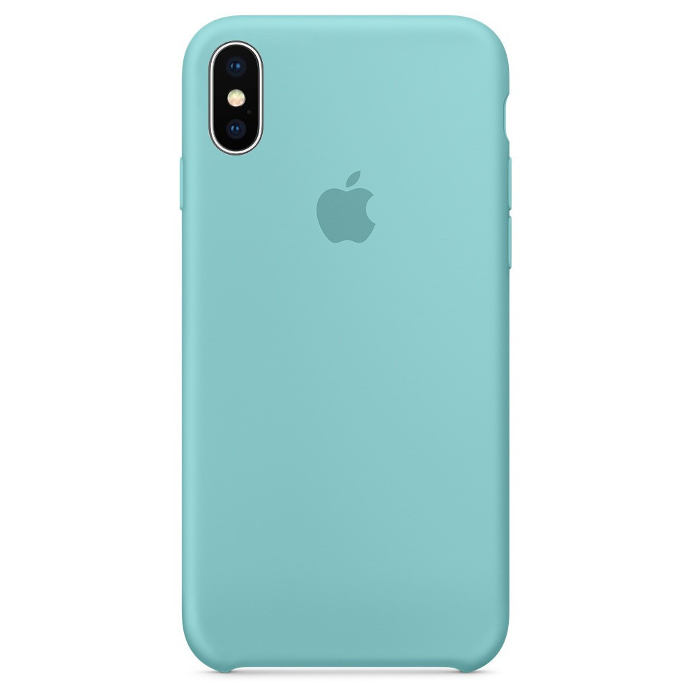 Чехол накладка xCase для iPhone XS Max Silicone Case мятный