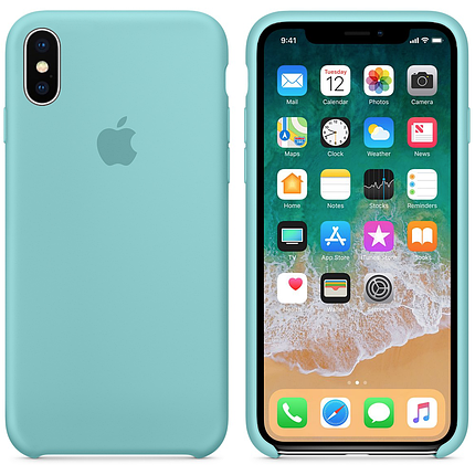 Чехол накладка xCase для iPhone XS Max Silicone Case мятный, фото 2