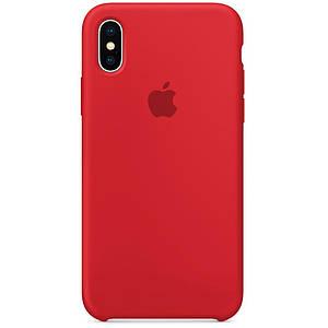 ✅ Чехол накладка xCase для iPhone XS Max Silicone Case красный