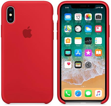 ✅ Чехол накладка xCase для iPhone XS Max Silicone Case красный, фото 2