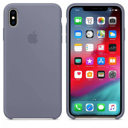 ✅ Чехол накладка xCase для iPhone XS Max Silicone Case lavender grey, фото 2
