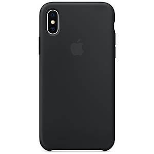 Чехол накладка xCase для iPhone XS Max Silicone Case черный