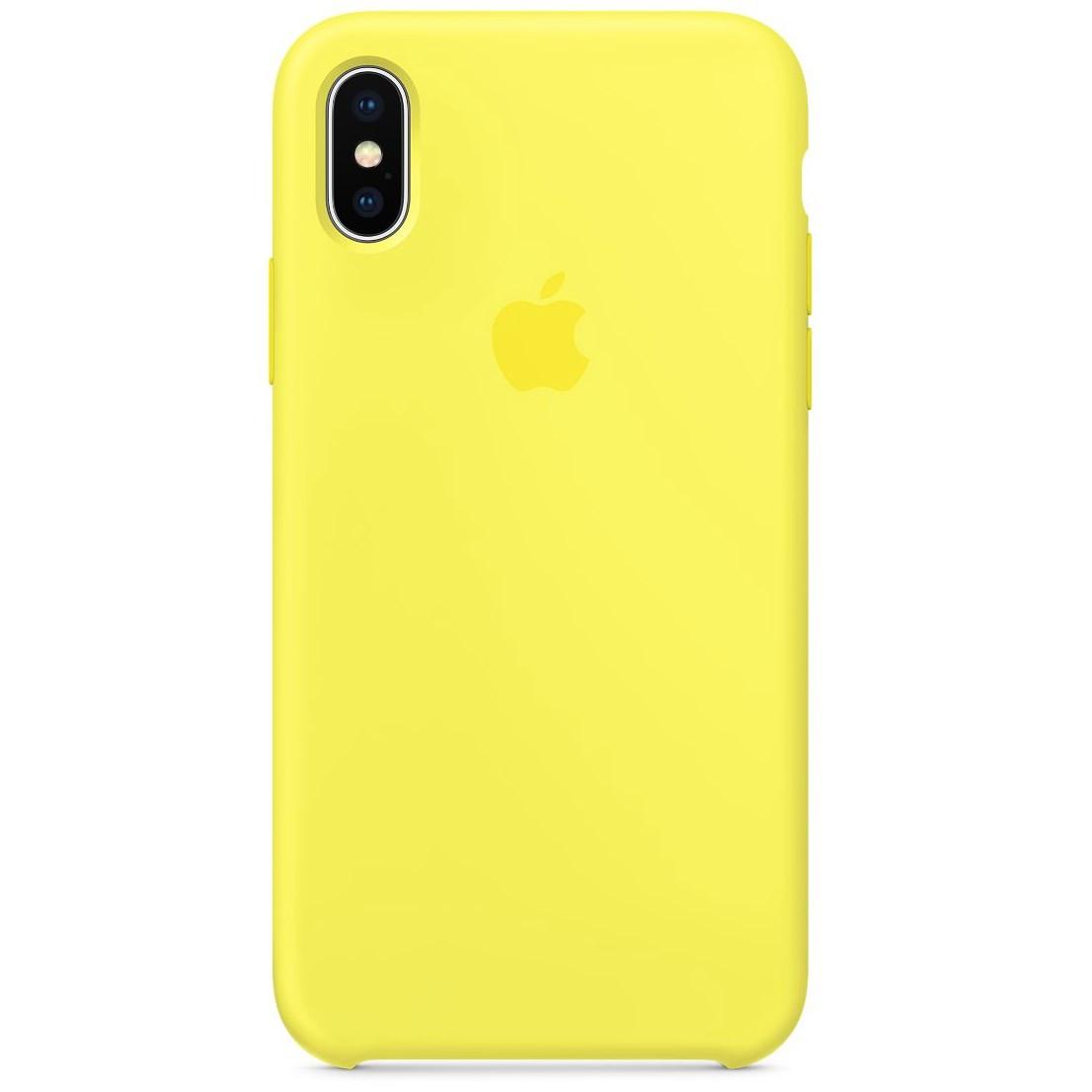 Чехол накладка xCase для iPhone XS Max Silicone Case лимонный