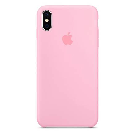 Чехол накладка xCase для iPhone XS Max Silicone Case розовый, фото 2
