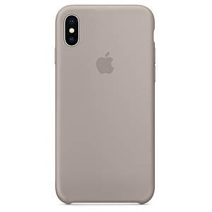 Чехол накладка xCase для iPhone XS Max Silicone Case светло-серый