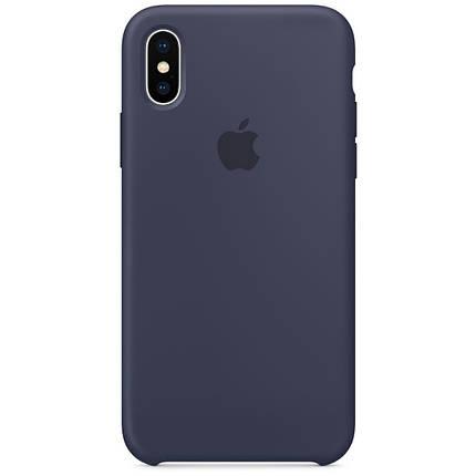 Чехол накладка xCase для iPhone XS Max Silicone Case темно-синий, фото 2