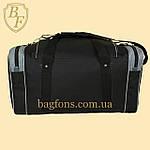 Дорожная спортивная сумка  NIKE черная с серым -15л., фото 2