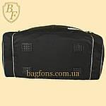 Дорожная спортивная сумка  NIKE черная с серым -15л., фото 3