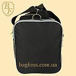 Дорожная спортивная сумка  NIKE черная с серым -15л., фото 4