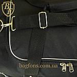 Дорожная спортивная сумка  NIKE черная с серым -15л., фото 5