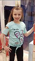 Летняя футболка для девочек от 128 до 164 рост., фото 1