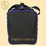 Дорожная спортивная сумка  NIKE черная с синим -15л., фото 4