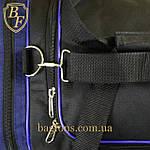 Дорожная спортивная сумка  NIKE черная с синим -15л., фото 5