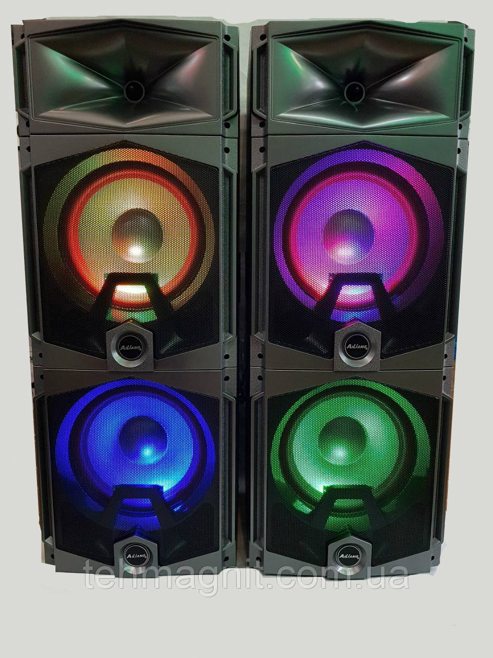 "Активная стерео система колонки Ailiang UF-7421-DT, Bluetooth, 180W, 10"" дюймов, подсветка ( Реплика )"