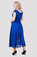 Длинное женское платье на лето с коротким рукавом материал хлопок