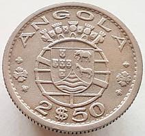 Португальская Ангола 2.5 эскудо 1956
