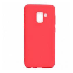 Накладка для Samsung Galaxy A730 A8+ 2018 силікон Original Soft Case Рожевий