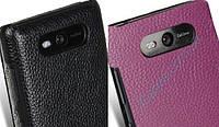 Чехол для Nokia Lumia 820 - Melkco Snap leather cover, кожаный, разные цвета