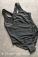 Купальник для девочки 9-10 лет/140-145 см чёрный
