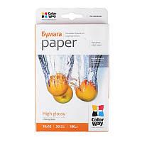Папір 10*15 50л глянцевий 180г/м2 PG180-50 ColorWay