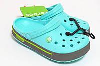 Женские кроксы бирюзовые, сабо Crocs оригинал