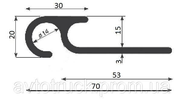 Профиль диаметром 70 мм (3,3 м/пог.) (шт.)