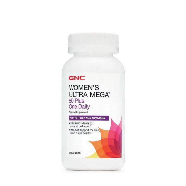 Вітаміни для жінок старше 50 років GNC women's Ultra Mega 50 Plus One Daily 60 caplets