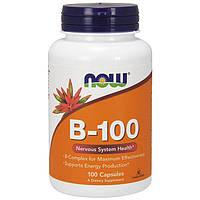 Комплекс витаминов группы В NOW B-100 100 veg caps