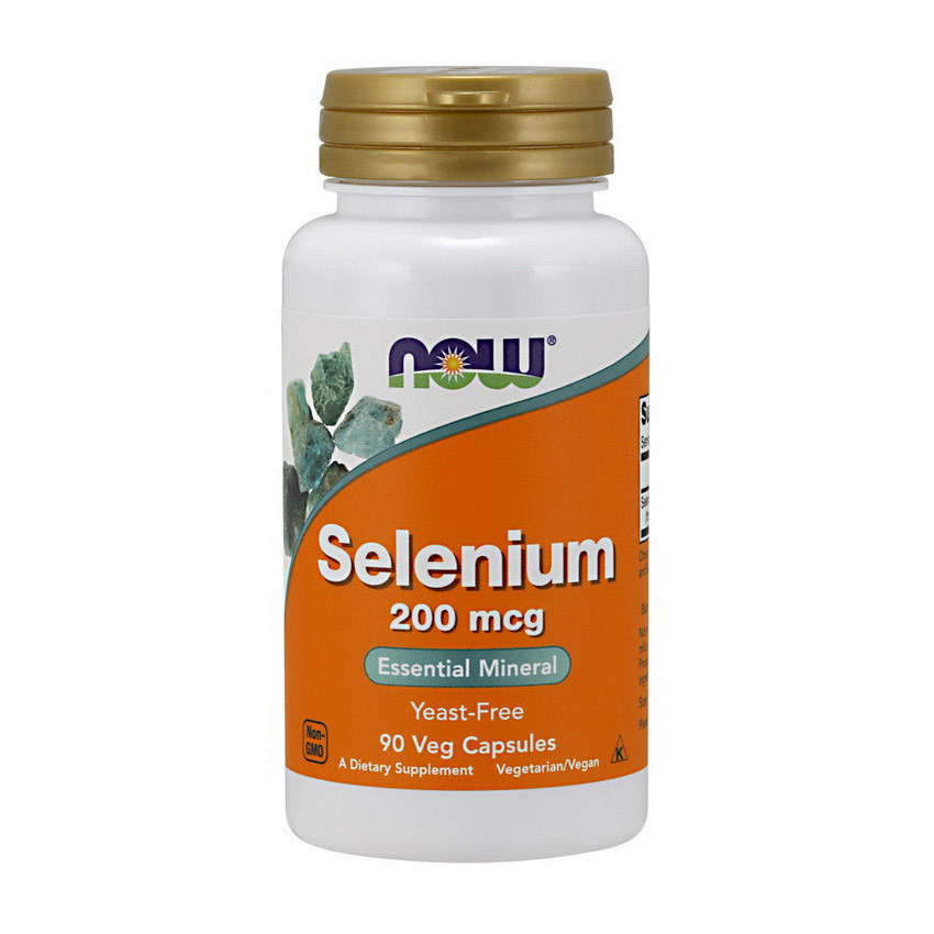 Селен NOW Selenium 200 mcg 90 veg caps