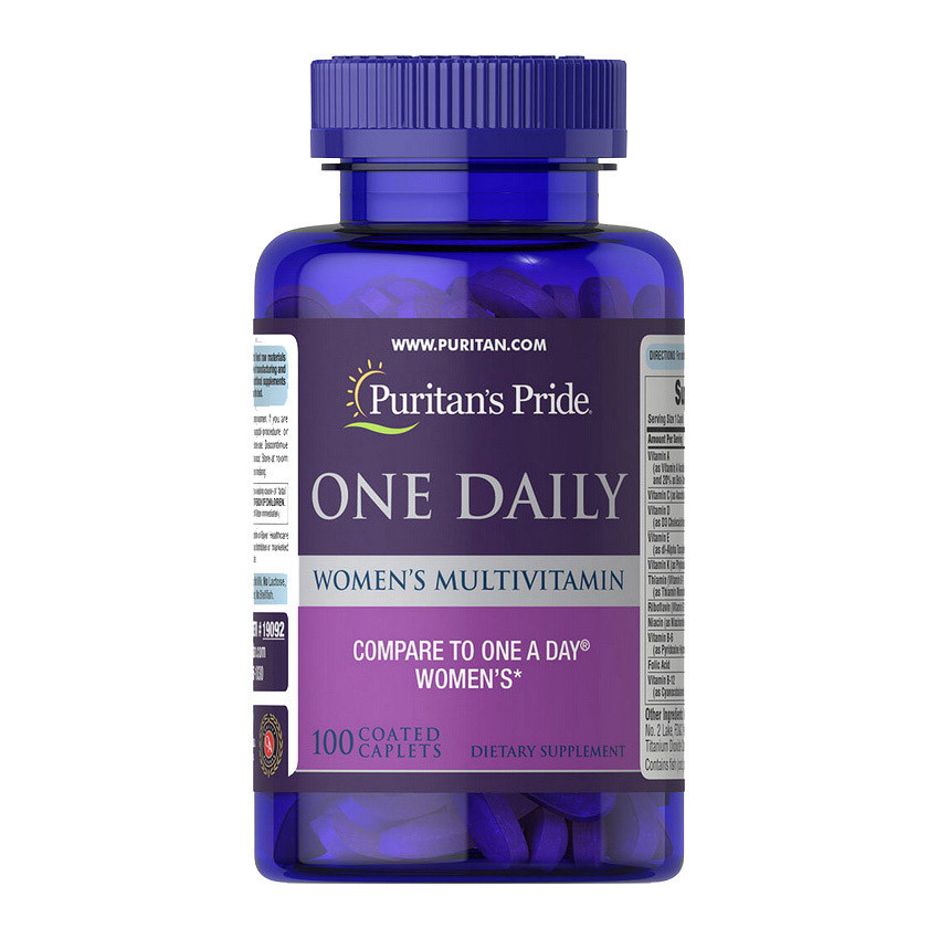 Витамины для женщин Puritan's Pride One Daily Women's Multivitamin 100 caplets