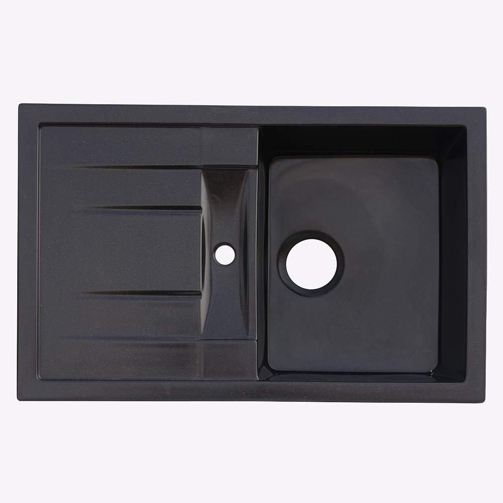 Мойка гранитная Platinum 7850 черная (брак№471)